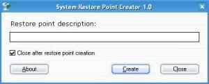 System Restore Point Creator