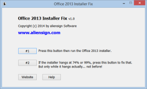 Office 2013 Installer ClickToRun fix